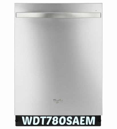 Whirlpool 48 dBA Stainless Steel Inside and Out Dishwasher with, Sensor Cycle WDT780SAEM