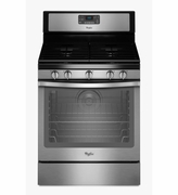 Whirlpool Stainless Steel Gas Range Freestanding 5.8 Cu. Ft. with AquaLift Self-Cleaning Technology WFG540H0ES