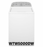 Whirlpool Top Washer WTW5000DW 4.3 cu. ft. Cabrio® High-Efficiency Top Load Washer by Whirlpool