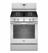 Whirlpool White Gas Range Freestanding 5.8 Cu. Ft. with AquaLift Self-Cleaning Technology WFG540H0EW
