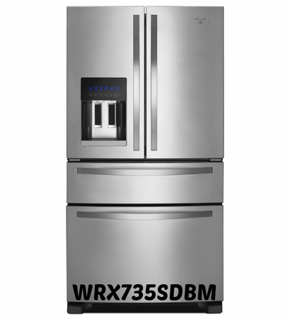 Whirlpool 25 cu. ft. French Door Refrigerator with External Refrigerated Drawer, PUR Water Filtration System WRX735SDBM