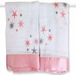 Aden + Anais Issie Security Blanket Set Rinny Pink Stars