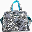 Ju Ju Be Be Prepared Charcoal Roses Diaper Bag