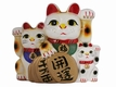 Both Paws Raised Japanese Lucky Cats (Maneki Neko)