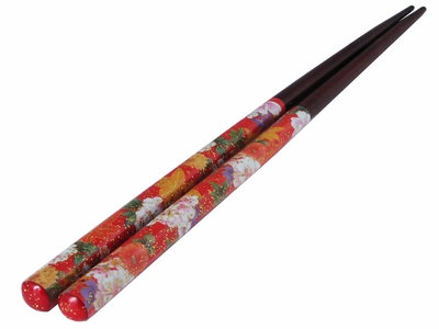 Red Impressionist Spring Fancy Chopsticks