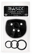 BASIX Rubber Works Universal Harness - Plus Sized , Black