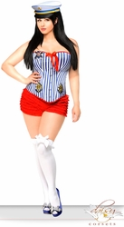 2 PC Pin-Up Sailor Girl Costume (IN STOCK)