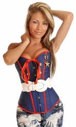 2 PC Sexy Marine Corset Top - IN STOCK