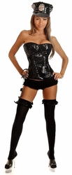 3 PC Sequin Cop Costume (IN STOCK)