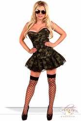3 PC Sexy Army Girl Costume - IN STOCK