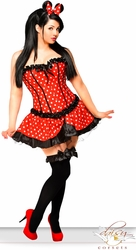 3 PC Sexy Miss Mouse Costume (IN STOCK)