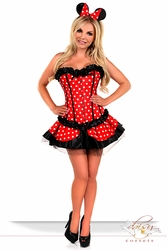 3 PC Sexy Miss Mouse Costume - IN STOCK