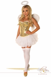 4 PC Gold Sequin Angel Costume - IN STOCK