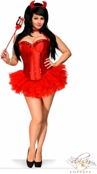 4 PC Glitter Devil Costume - IN STOCK