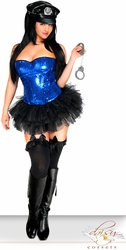 4 PC Pin-Up Cop Costume - IN STOCK