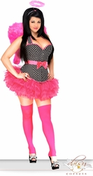 4 PC Pin-Up Rockabilly Angel Costume - IN STOCK