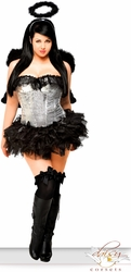 4 PC Sequin Dark Angel Costume (IN STOCK)