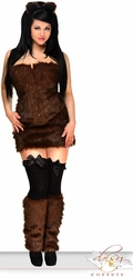 "4 PC Sexy ""Brown Bear"" Costume"