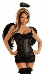 4 PC Sexy Dark Angel Costume (IN STOCK)