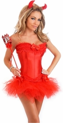 4 PC Sexy Devil Costume (IN STOCK)