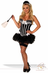 4 PC Sexy French Maid Costume - IN STOCK