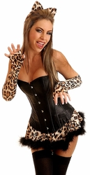 4 PC Sexy Leopard Costume (IN STOCK)