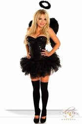 4 PC Sexy Sequin Dark Angel Costume - IN STOCK