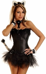 6 PC Sexy Cat Costume (IN STOCK)