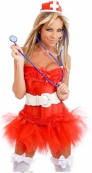 7 PC Naughty Nurse Costume (IN STOCK)