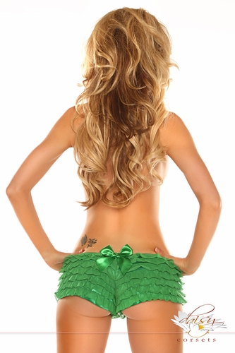 Green Ruffle Panty w/Bow - IN STOCK