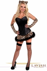 Lavish 4 PC Naughty Leopard Costume - IN STOCK