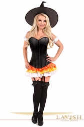 Lavish 4 PC Witch Corset Costume - IN STOCK