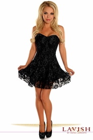 Lavish Black Lace Corset Dress