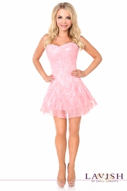Lavish Light Pink Lace Corset Dress