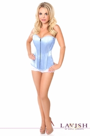 Lavish Lt Blue Sweetheart Front Zipper Corset