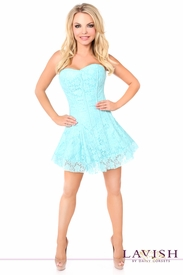 Lavish Mint Green Lace Corset Dress