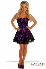 Lavish Purple Lace Corset Dress