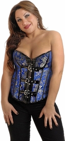 Plus Size Brocade Buckle Burlesque Corset Top