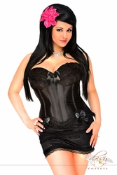 Plus Size Burlesque Corset & Skirt Set