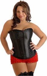 Plus Size Strapless Ruffled Corset
