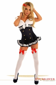 Top Drawer 3 PC Pin-Up Navy Officer Costume - IN STOCK