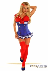 Top Drawer 3 PC Pin-Up Sailor Girl Costume - IN STOCK
