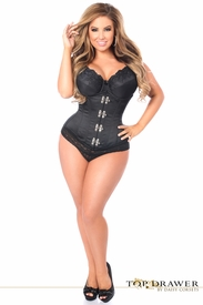 Top Drawer Black Steel Boned Underbust Corset w/Clasp Closure