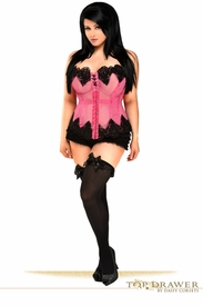 Top Drawer Fuchsia Mesh Net Beaded Steel Boned Corset