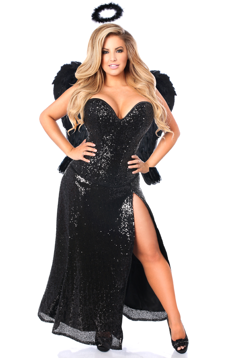 Top Drawer Premium Dark Angel Corset Costume  sc 1 th 275 & Plus Size Costumes