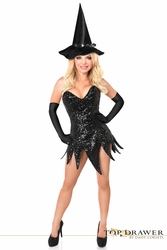 Top Drawer Sequin Witch Corset Dress Costume