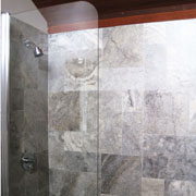 "Bath screen, model 7008SPR: Semi-Frameless|70"" high