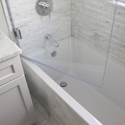 It is necessary to open the glass into or out of the tub to add and remove the bottom seal