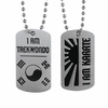 I Am Martial Art Dog Tags - Karate or Taekwondo