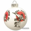 Taekwondo Christmas Ornament Ball